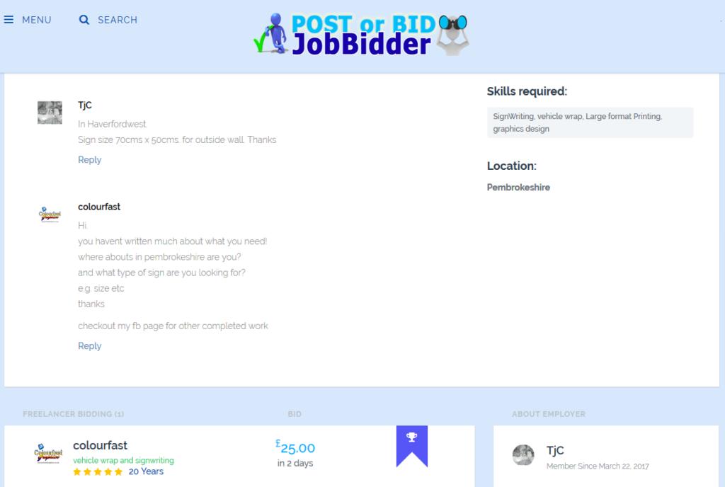 post or bid jobbidder job bidder
